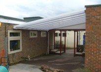 Theydon Bois Primary School - Wall Mounted Canopy - Second Installation