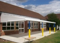 Thomas Arnold Primary School - Wall Mounted Canopy
