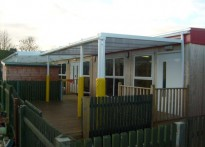 South Bedfordshire Children's Centre - Wall Mounted Canopy