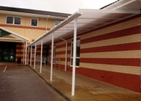 Overton Grange School - Wall Mounted Canopy