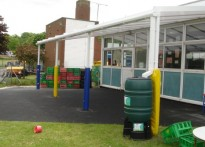 Powell Corderoy Primary School - Wall Mounted Canopy