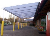 Sythwood Primary School - Wall Mounted Canopy