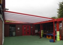 Shavington Primary School - Wall Mounted Canopy