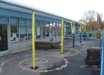 William Martin CE Junior School - Wall Mounted Canopy