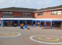 Ravensbury Primary School - Wall Mounted Canopy