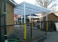 Northbury Infant School - Wall Mounted Canopy