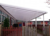 Worplesdon Primary School - Wall Mounted Canopy