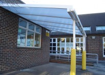 Manor House Primary School - Wall Mounted Canopy
