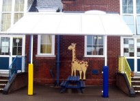 Sholing Infant School - Wall Mounted Canopy