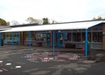 Swanmore C of E Aided Primary School - Wall Mounted Canopy