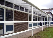 Applemore College - Wall Mounted Canopy
