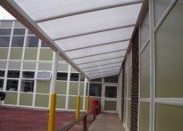 Axton Chase School - Wall Mounted Canopy