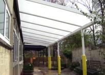 Kirtlington C of E Primary School - Wall Mounted Canopy