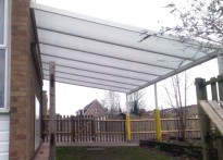 Marcham C of E Primary School - Wall Mounted Canopy