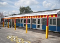Orchard Meadows Primary School - Wall Mounted Canopy
