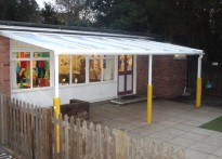 Peppard C of E Primary School - Wall Mounted Canopy