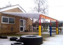 St Nicholas First School - Wall Mounted Canopy