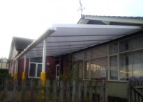 St Laurence C of E School - Wall Mounted Canopy