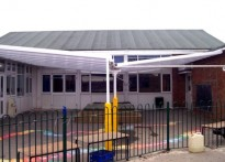 Sutton Courtney All Saints CE Primary School - Wall Mounted Canopy