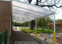 More Park RC Primary School - Wall Mounted Canopy