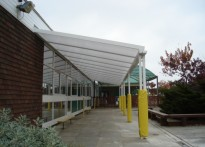 Northdown Primary School - Wall Mounted Canopy