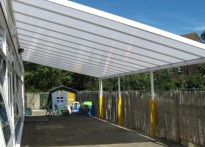 Parkway Primary School - Wall Mounted Canopy