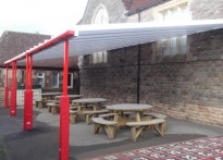 Wraxall C of E Voluntary Aided Primary School - Wall Mounted Canopy