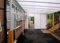 Roseacre Junior School - Wall Mounted Canopy