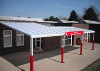 Singlewell Primary School - Wall Mounted Canopy - 2nd Installation