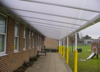 St Katherine's School - Wall Mounted Canopy