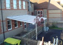 St Martin's C of E Primary School - Wall Mounted Canopy