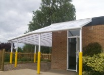 St Paul's Infant School - Wall Mounted Canopy - 2nd Install