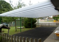 Amberley C of E First School - Wall Mounted Canopy