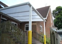Mark Cross C of E Primary School - Wall Mounted Entrance Canopy