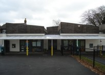Peasmarsh C of E Primary School - Wall Mounted Canopy