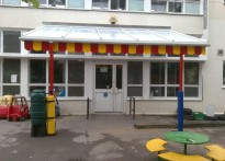 Brockley Primary School - Wall Mounted canopy