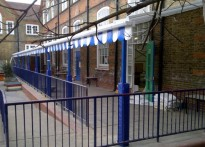 Nightingale Primary School - Two Wall Mounted Canopies