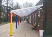 Ferry Lane Primary School - Wall Mounted Canopy
