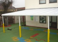 Hasmonean Primary School - Wall Mounted Canopy
