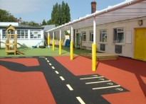 Hasmonean Primary School - Wall Mounted Canopy - Second install