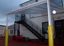 Hasmonean Primary School - Wall Mounted Canopy - Third install
