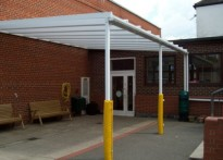 Hasmonean Primary School- Wall Mounted Canopy - Fourth install