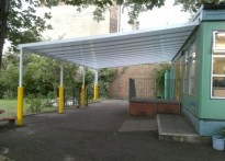 John Donne Primary Schooll - Wall Mounted canopy