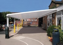 Holy Family Catholic Primary School - Wall Mounted Canopy