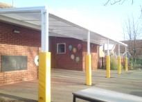 Langer Primary Academy - Wall Mounted Canopy