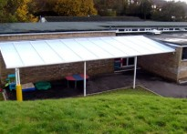 Ash Hill Primary School - Wall Mounted Canopy