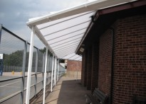 Mill Hill County High School - Wall Mounted canopy