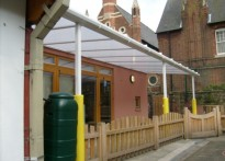 Pembury House Nursery School - Wall Mounted Canopy