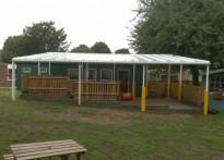 Pilgrims Way Primary School - Wall Mounted Canopy