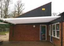 Buckingham Junior School -Wall Mounted Canopy